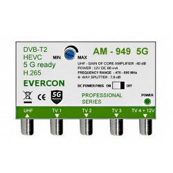 HEVC zesilovač signálu pro 4 TV Evercon AM-949 5G