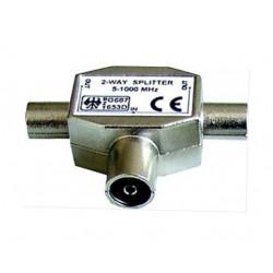Rozbočovač plechový hybridní 1-2 IEC FEMALE