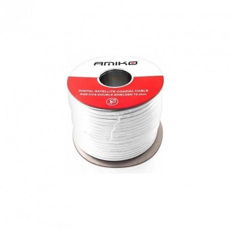 AMIKO koaxiální kabel RG6 CCS DS - balení 100m Cívka