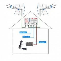 DVB-T2 anténní komplet pro 3 TV Emme Esse